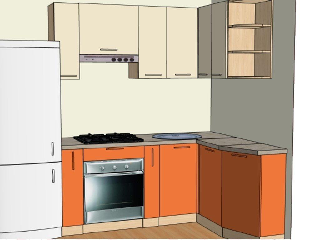 Кухонные гарнитуры: Стандартная кухня №2 Пленка ПВХ 3 категория в Мебель Белкино
