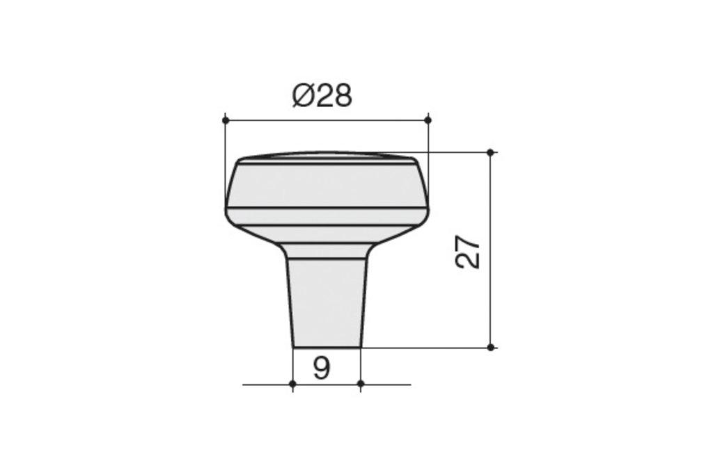 Коллекция МОДЕРН: Ручка-кнопка, отделка черный матовый в МебельСтрой