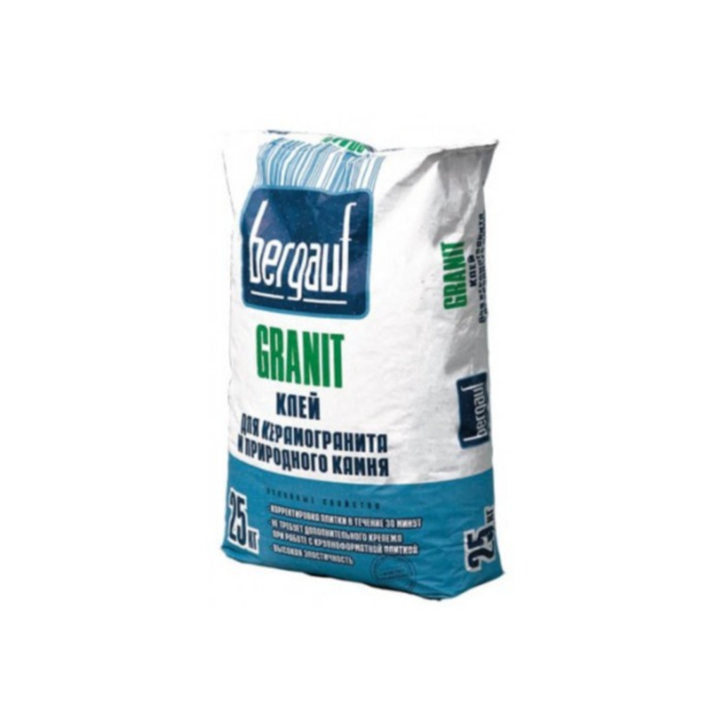Сухие смеси Бергауф: Клей для керамогранита и природ камня Granit 25 кг Bergauf в База строительных материалов ЯИК