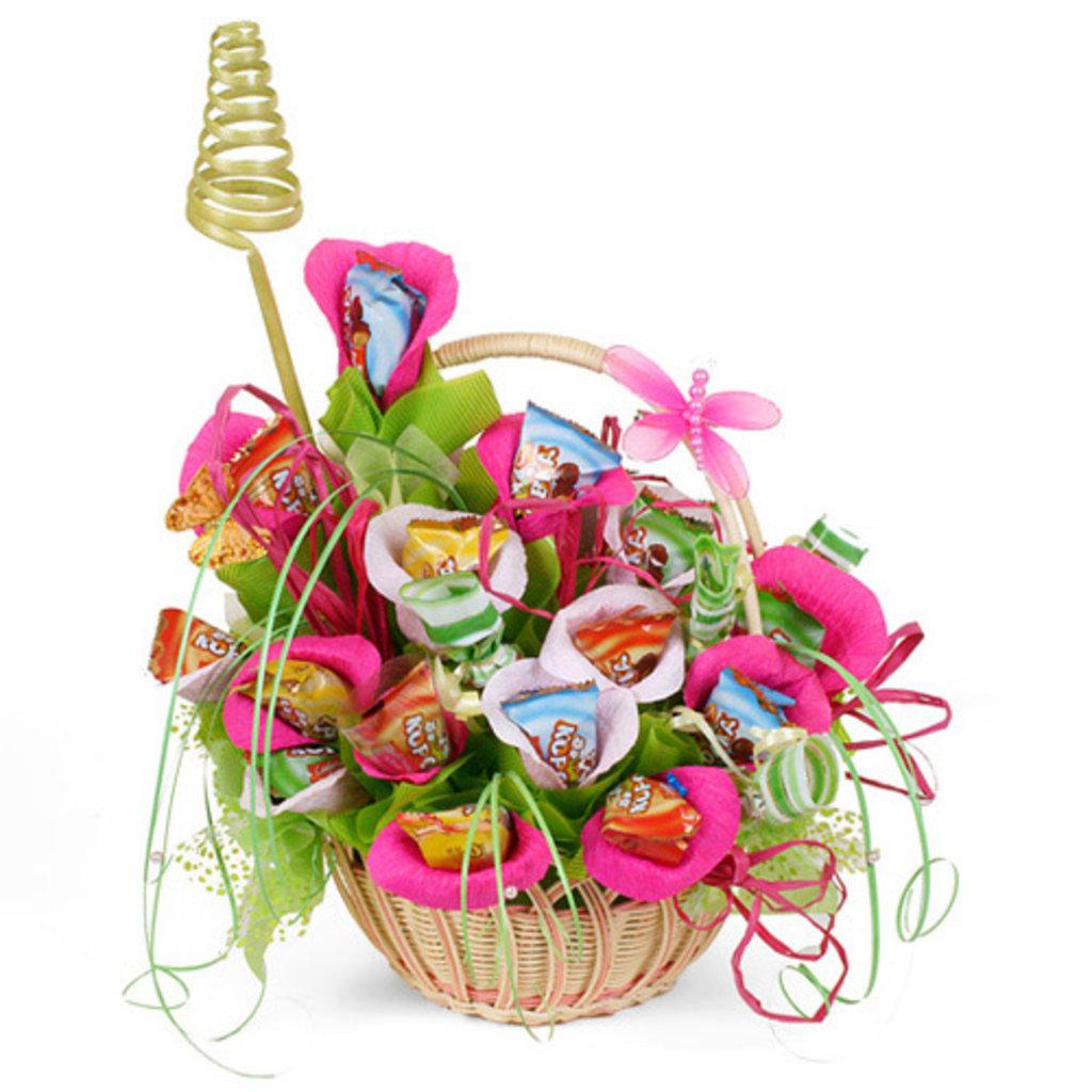 Подарок на день рождения из цветов 41