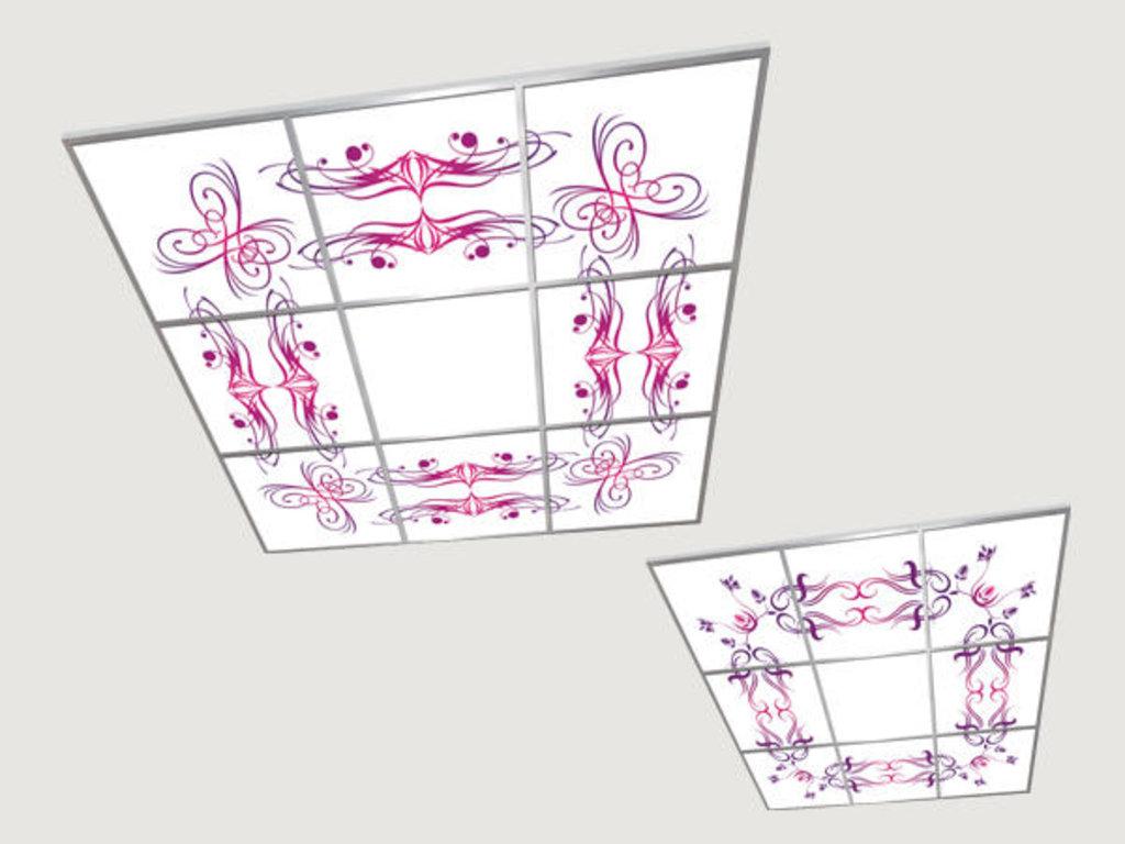 Витражные (стеклянные) потолки: Серия «Универ-Карамель» в Мир Потолков