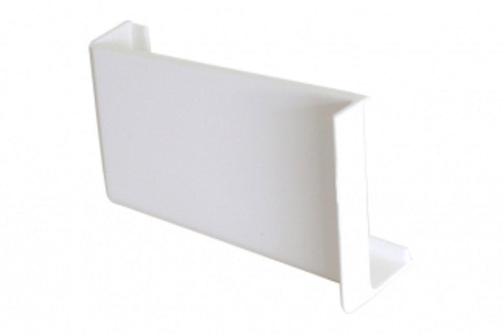 Подвеска полок: Крышечка декоративная для подвески арт.806 белая, левая в МебельСтрой