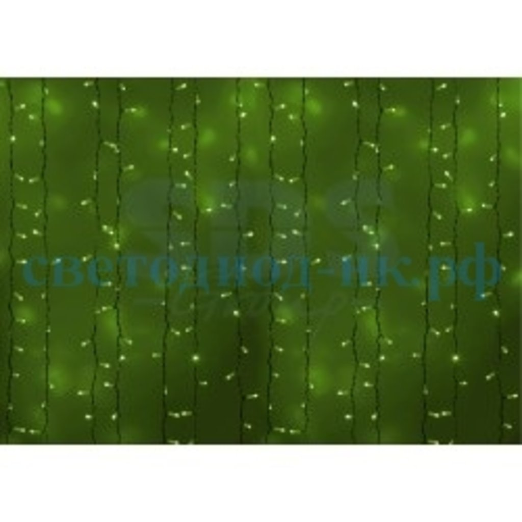 Светодиодный дождь: Гирлянда LED-дождь белая нить 2х1.5м Flashing зеленый мерцающий в СВЕТОВОД