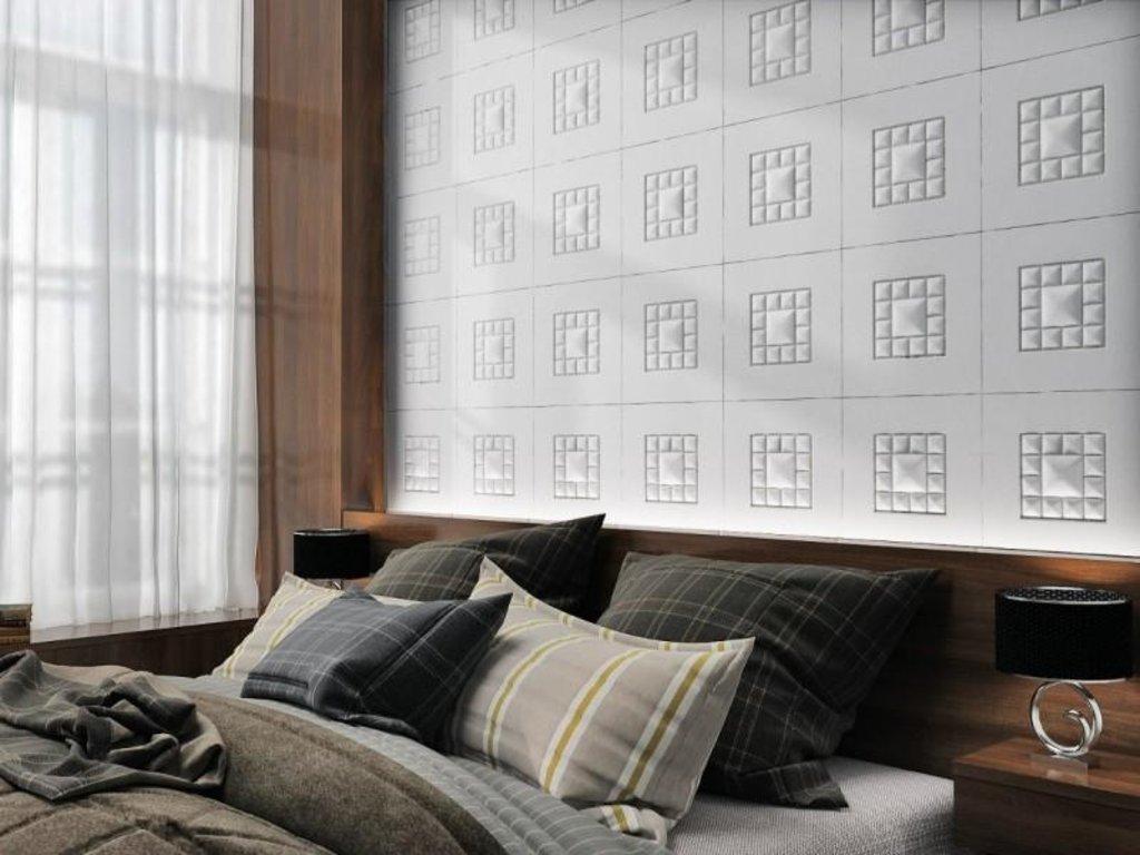 Кожаные стеновые панели: Кожаная 3D панель Сastle в Мир Потолков