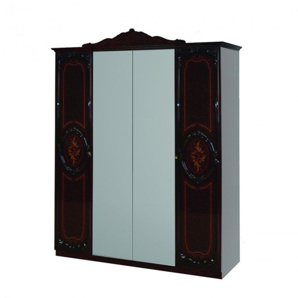 Шкафы для спальни: Шкаф 4-дверный Роза в Стильная мебель