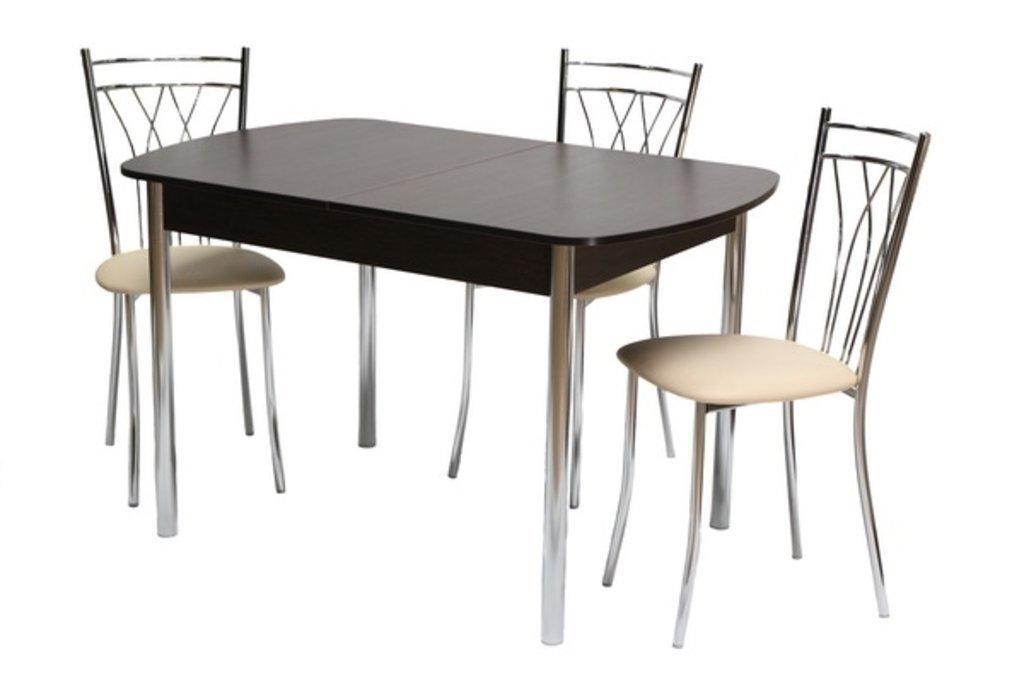 Обеденные группы: Стол ПГ-14 раздвижной + стулья Премьер (хром) в АРТ-МЕБЕЛЬ НН