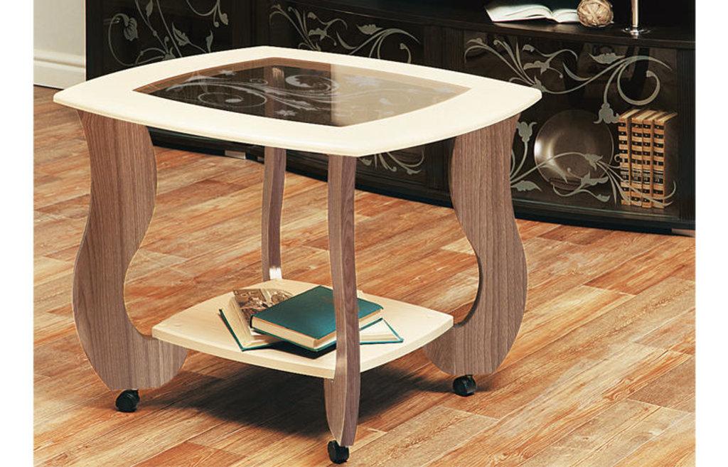 Столы журнальные: Журнальный столик Сатурн - М01 со стеклом и рисунком в Vesa