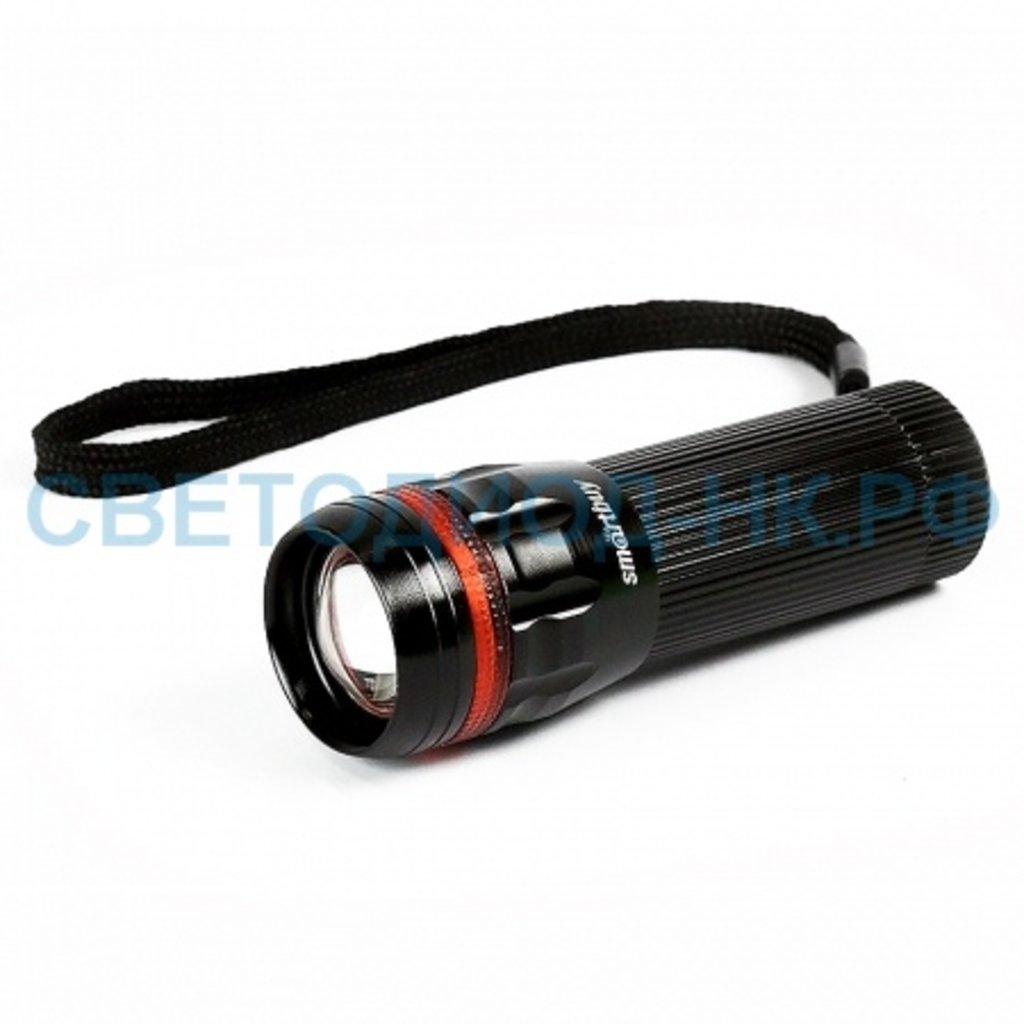 Светодиодные фонари, пушлайты: Фонарь Smartbuy светодиодный алюминиевый 3Вт черный в СВЕТОВОД