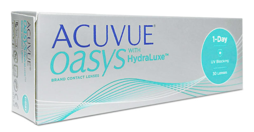 Контактные линзы: Контактные линзы 1-Day ACUVUE Oasys with Hydraluxe (30шт / 8.5) Johnson & Johnson в Лорнет