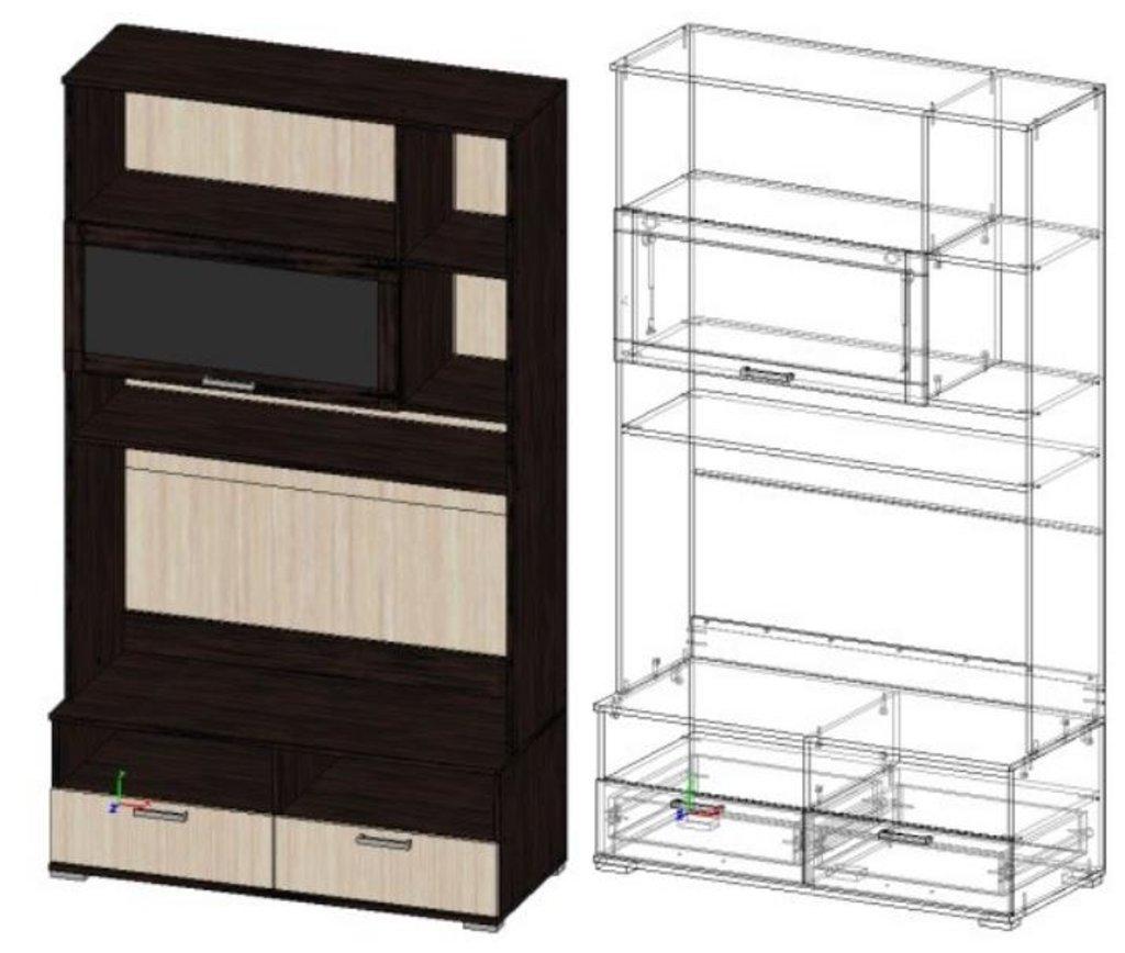 Мебель для гостиной Поло - 1: Базовый модуль БМ-04 для гостиной Поло - 1 в Диван Плюс