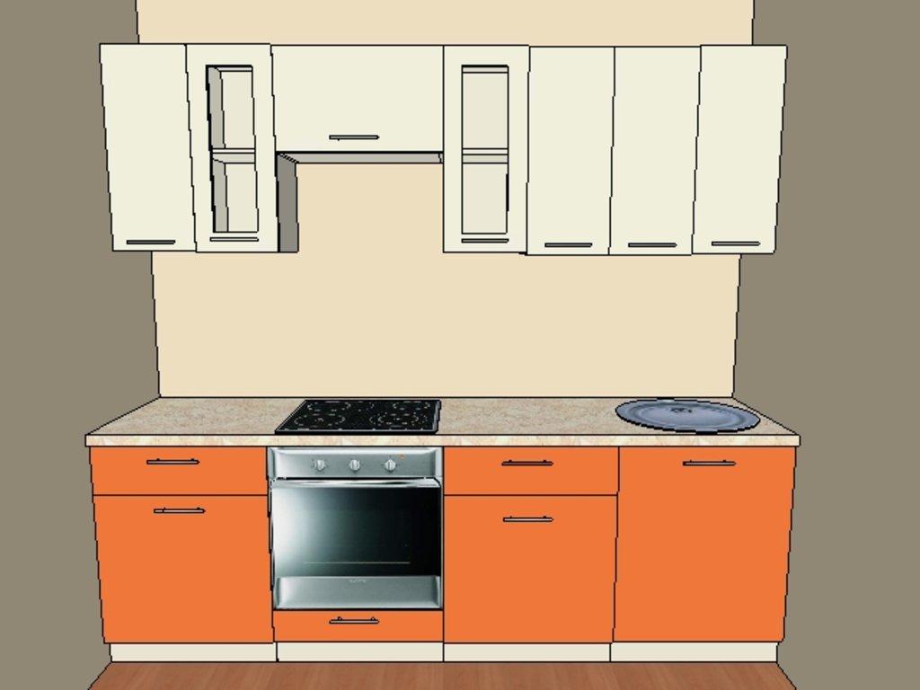 Кухонные гарнитуры: Стандартная кухня №3 Пластик в Мебель Белкино