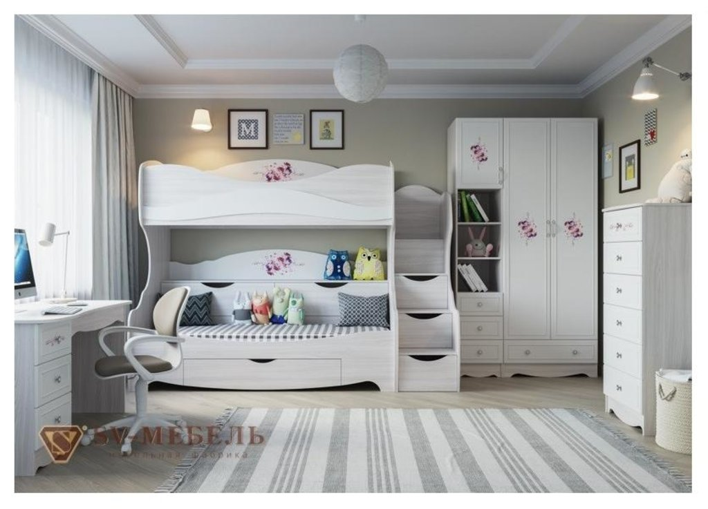 Мебель для детской Акварель 1: Комод Акварель 1 в Диван Плюс