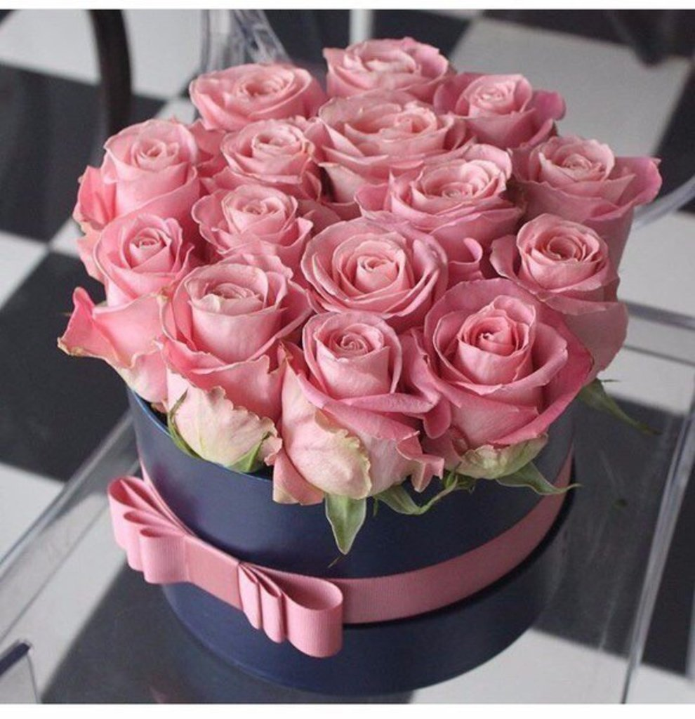 фото коробка с цветами