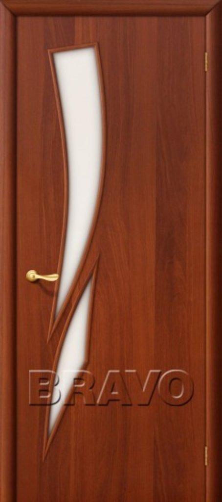 Двери ламинированные BRAVO: 8С Л-11 (ИталОрех) в STEKLOMASTER