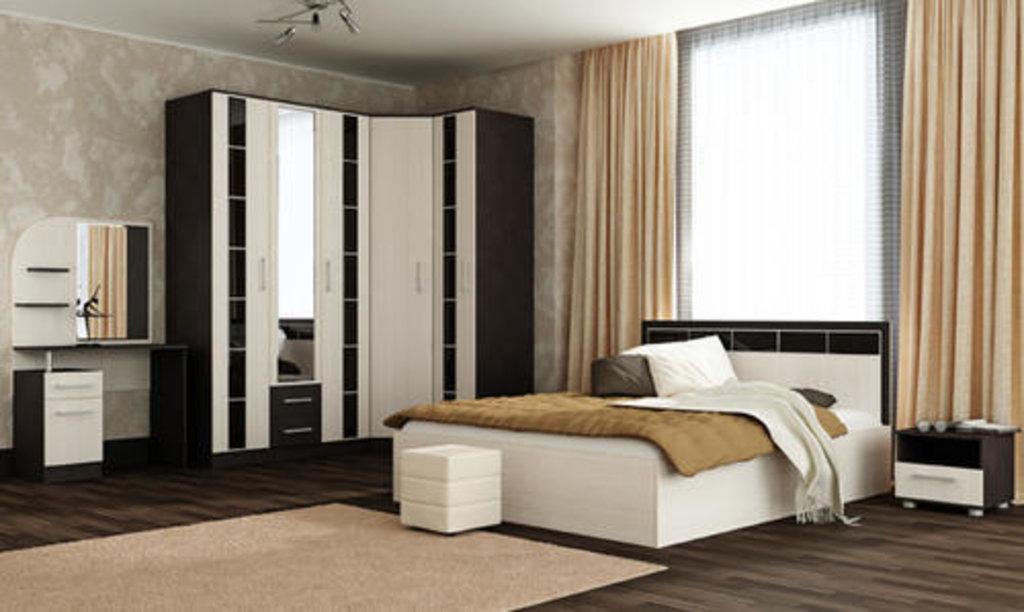 Мебель для спальни  Венеция. Модульная серия.: Кровать 2-х спальная 1400 Венеция в Уютный дом