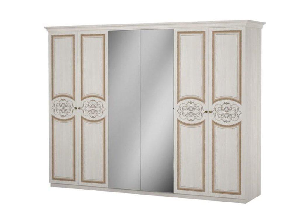 Шкафы для спальни: Шкаф 6-дверный Верона в Стильная мебель