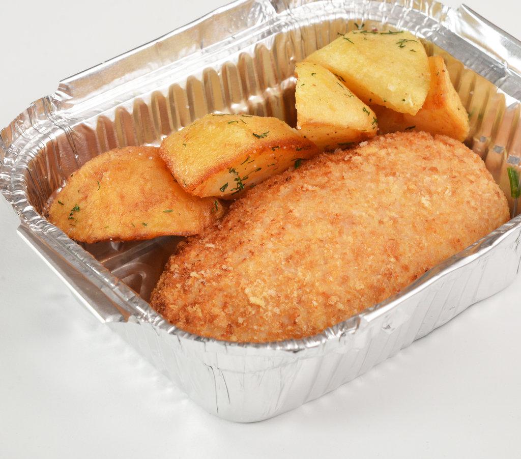 Горячее: Куриная котлета с картофелем по-деревенски в Провиант