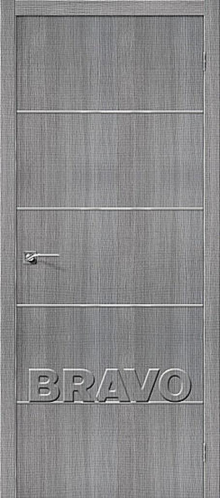 Двери экошпон BRAVO: Порта-50А-6 Grey Crosscut в STEKLOMASTER