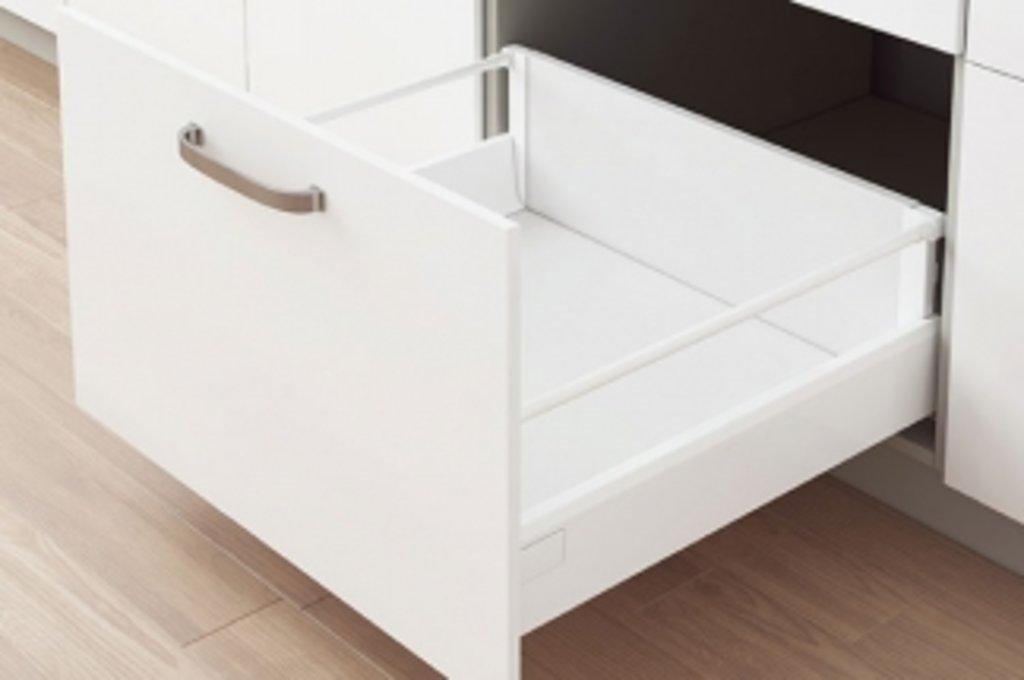 Наборы ящиков TEN: Набор ящика TEN H=180, L=350 с профилем-расширителем, отделка белая в МебельСтрой