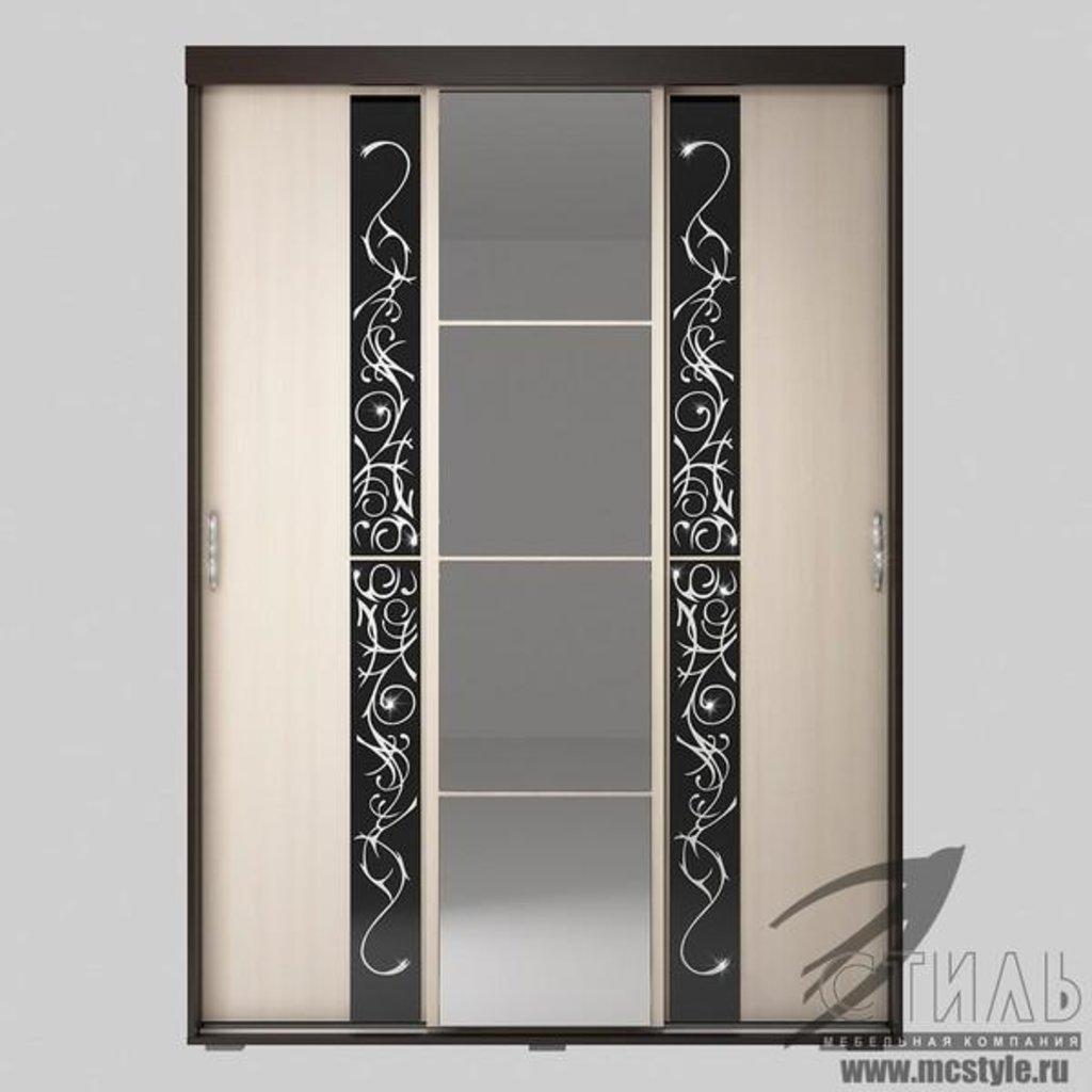 Шкафы: Шкаф-купе Вега ШК-02 (Венге / Дуб молочный) в Диван Плюс