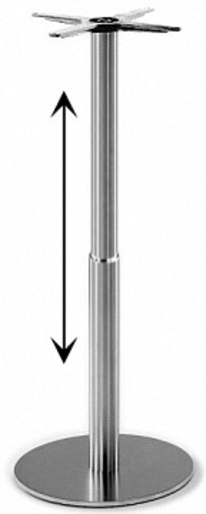 Подстолье, опоры: Подстолье регулируемое 1264EM (нержавеющая сталь матовое) в АРТ-МЕБЕЛЬ НН