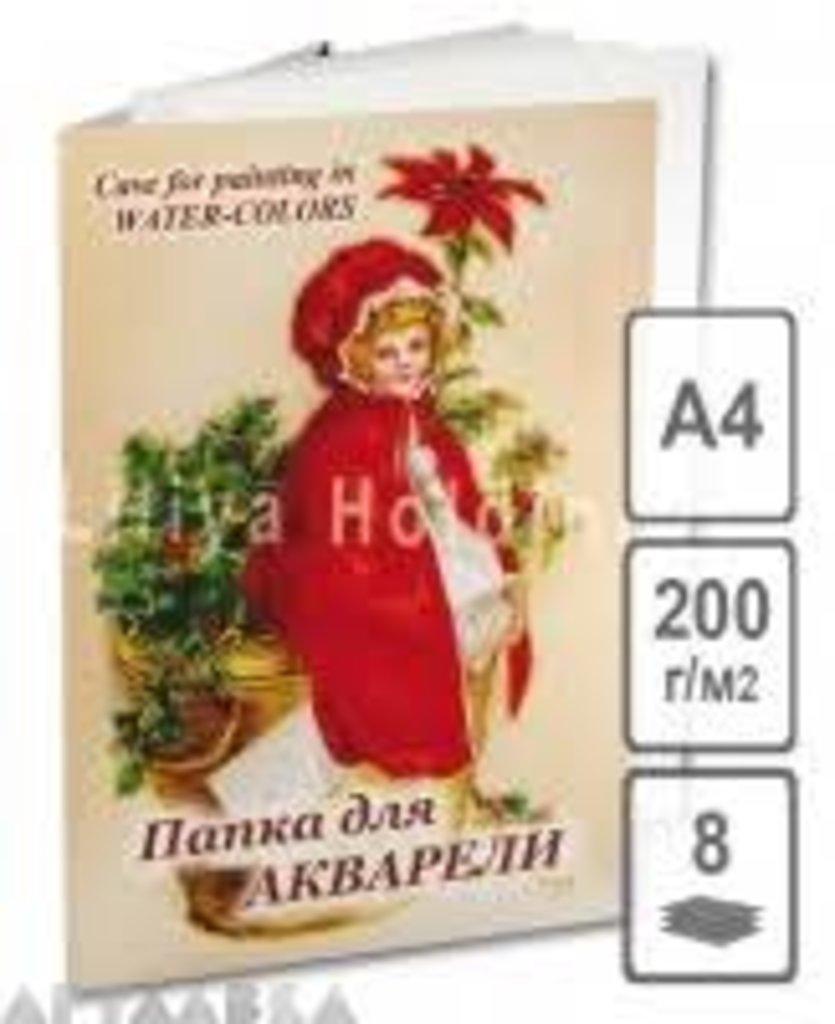 Бумага-картон: папка для акварели в Палитра