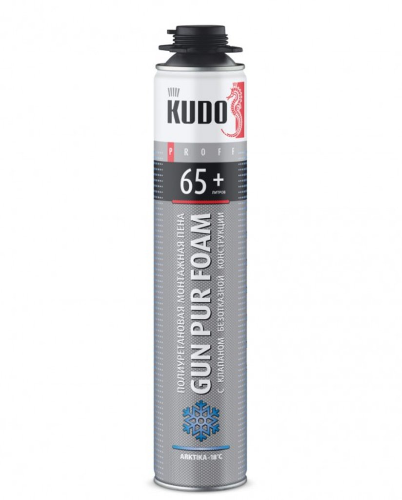 Монтажные пены: Пена монтажная KUDO PROFF 65+ ARKTIKA (12) KUPР10W65, шт в Строймастер-56