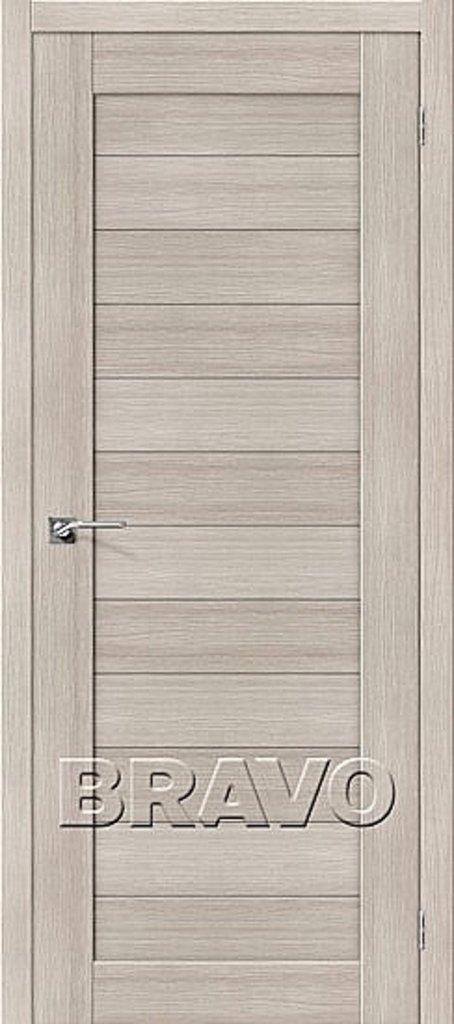Двери экошпон BRAVO: Порта-21 Cappuccino Veralinga в STEKLOMASTER