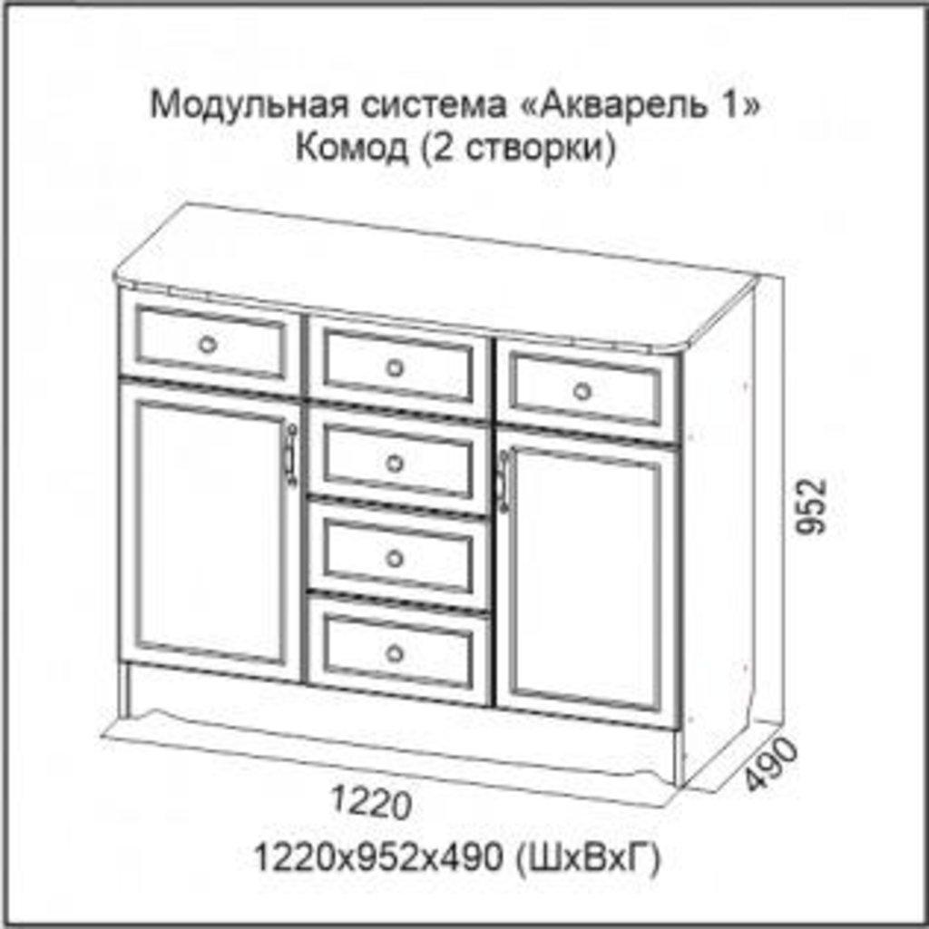 Мебель для детской Акварель 1: Комод (2 створки) Акварель 1 в Диван Плюс
