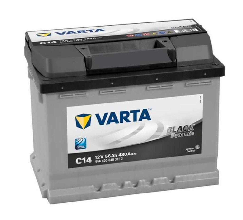 VARTA: VARTA Black Dynamic 12V 56 Ah 480A в БазаАКБ