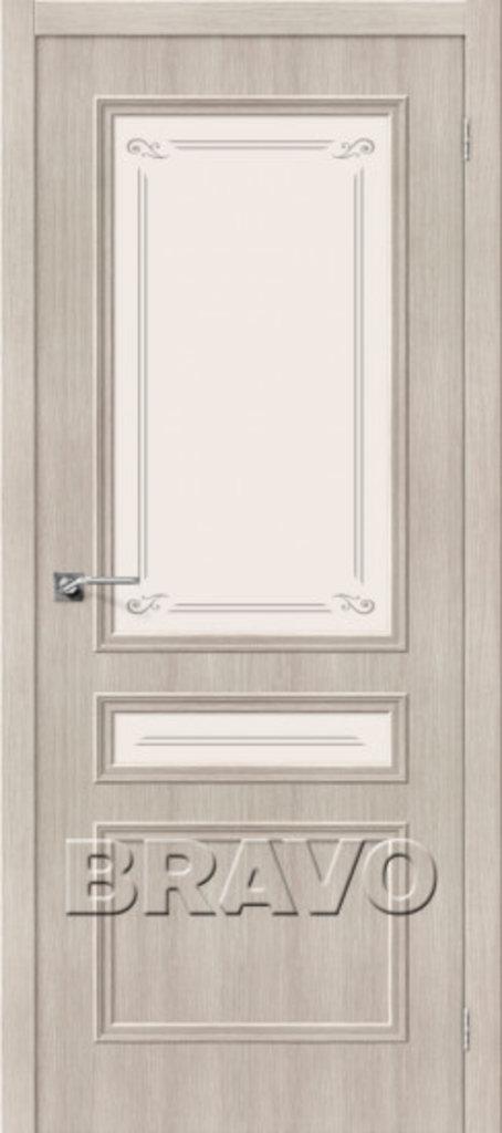 Двери экошпон BRAVO Classico: Классико-24 Cappuccino Veralinga в STEKLOMASTER
