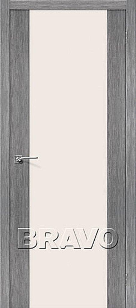 Двери экошпон BRAVO: Порта-13 Grey Veralinga в STEKLOMASTER