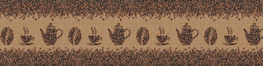 Декоративные интерьерные панели (фартуки для кухни): Интерьерная декоративная панель Кофейные зерна (3х0,6м; 2х0,6м) в Мир Потолков