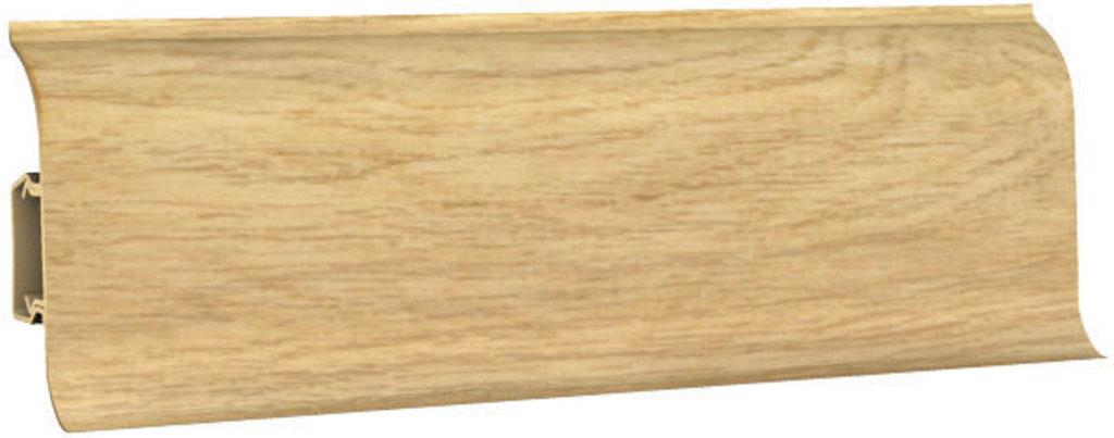 Плинтуса напольные: Плинтус напольный 60 ДП МК полуматовый 6054 дуб королевский в Мир Потолков
