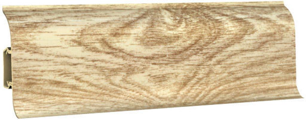 Плинтуса напольные: Плинтус напольный 60 ДП МК полуматовый 6052 дуб широ в Мир Потолков