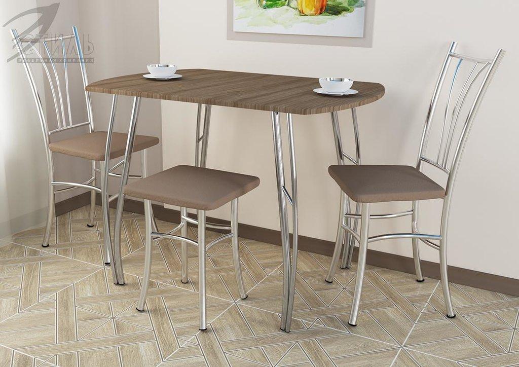 Обеденные группы: Стол обеденный №2 (Д1000хВ750хГ700мм) в Диван Плюс