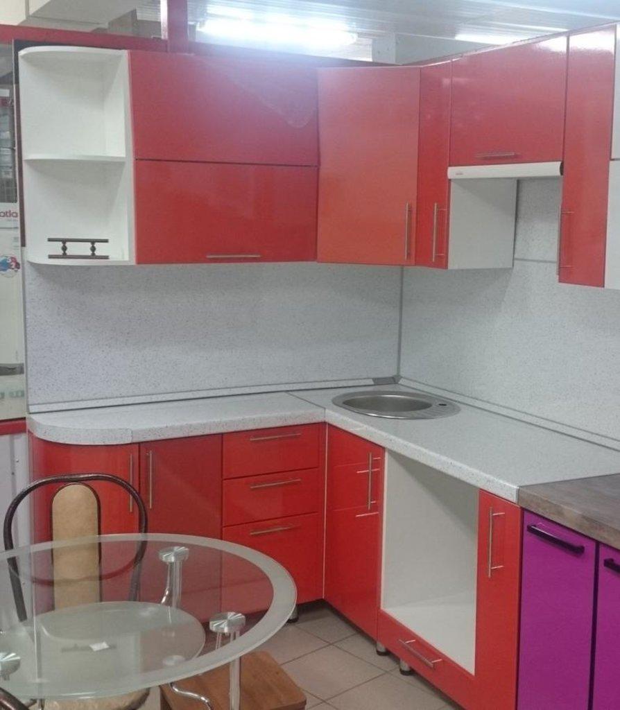 Кухни: Кухня 49 - Оранжевая в Квадра Мебель