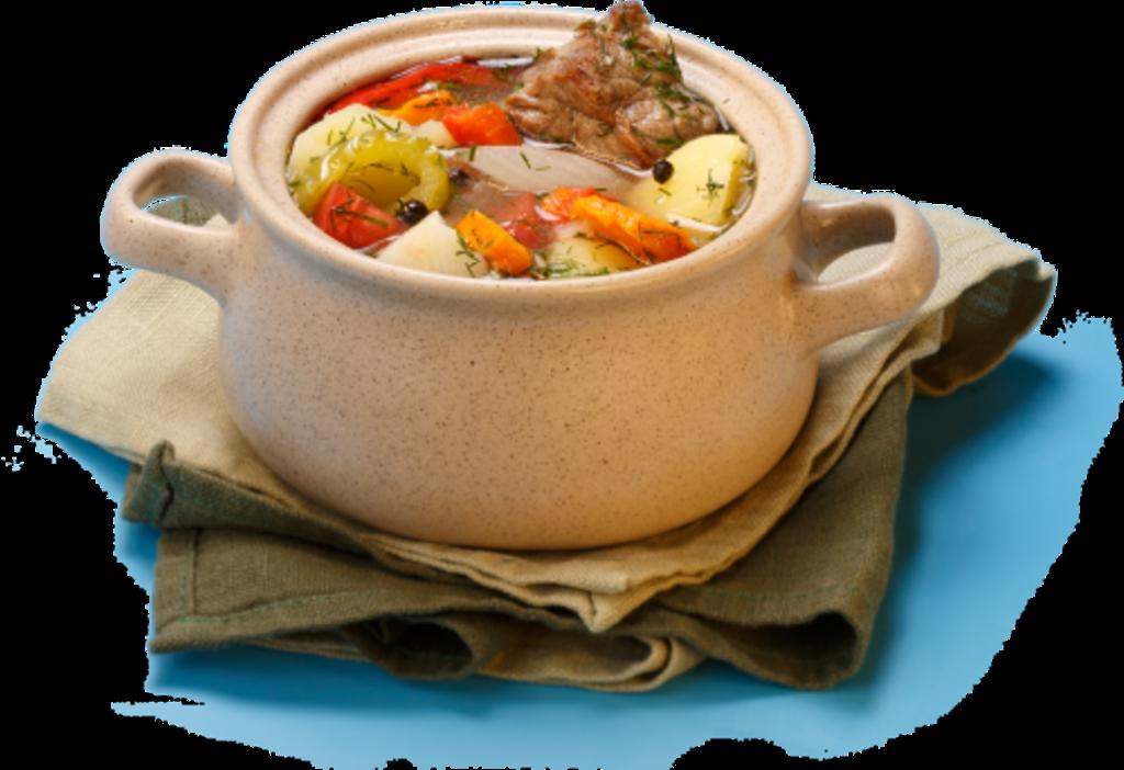В зависимости от количества бульона оно может служить первым или вторым блюдом.