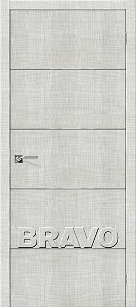 Двери экошпон BRAVO: Порта-50А-6 Bianco Crosscut в STEKLOMASTER