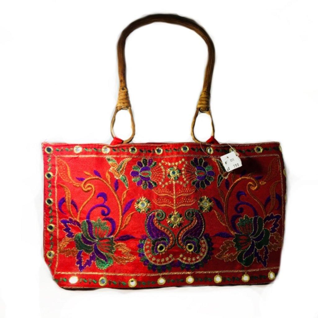 Сумки, рюкзаки, торбы: Сумочка женская (красная) в Шамбала, индийская лавка
