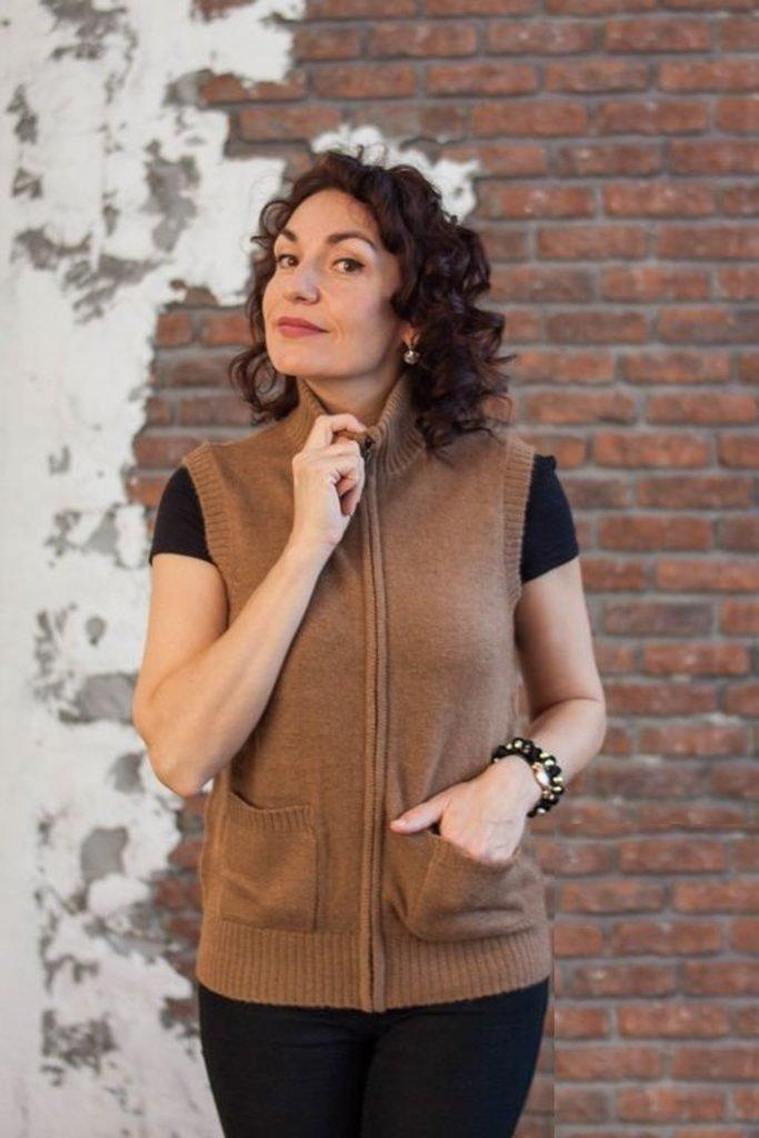 Женская одежда: Жилет на замке из 100% шерсти верблюда в Сельский магазин