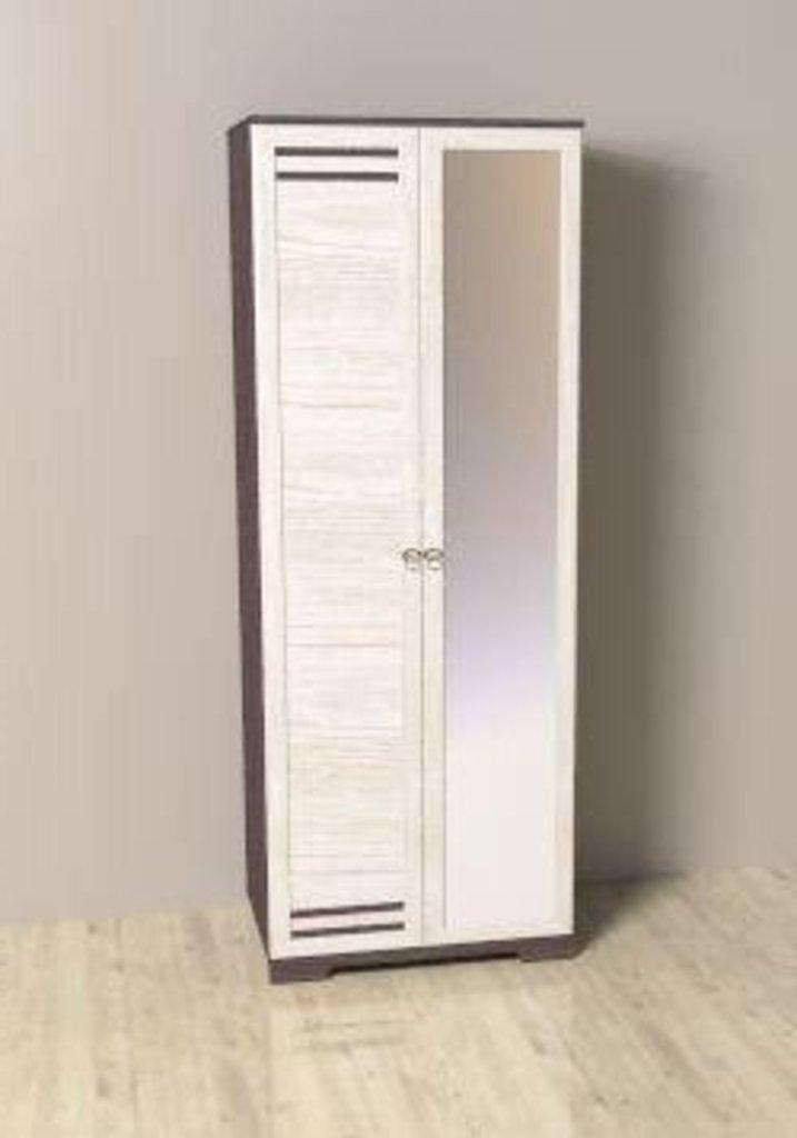 Шкафы для одежды и белья: Шкаф для одежды ФАСАД Зеркало, ФАСАД Стандарт БРИЗ 12 в Стильная мебель