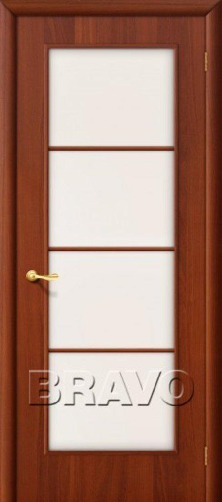 Двери ламинированные BRAVO: 10С Л-11 (ИталОрех) в STEKLOMASTER