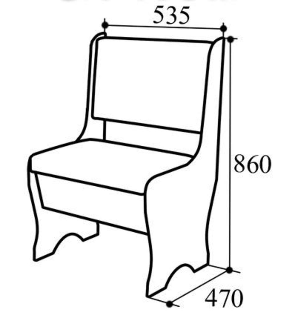 Кухонные скамьи: Скамья СК-40Бм в Уютный дом