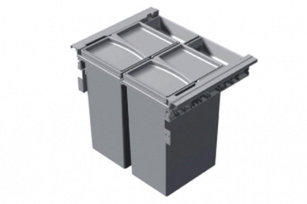 Система хранения Concept 560: Система хранения выкатная, в базу 600, H463 (2 ведра + 2 контейнера), отделка пластик серый в МебельСтрой