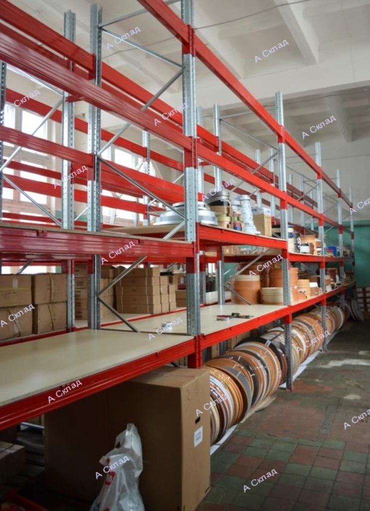 Полочные стеллажи: Стеллаж полочный складской в А Склад