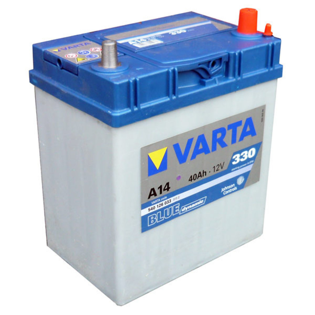 VARTA: Аккумулятор VARTA Blue Dynamic 12V 40Ah 330A в БазаАКБ