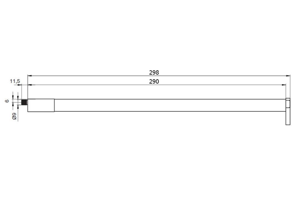 """Мебельная фурнитура """"НОВИНКИ"""": Комплект рейлингов для ящика Indigo, L=300, отделка орион серый в МебельСтрой"""