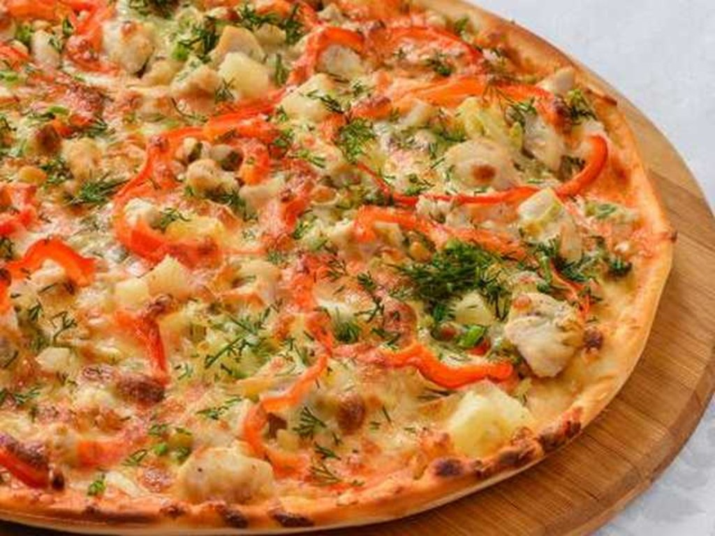 Пицца: Пицца с куриным филе и ананасом в Провиант