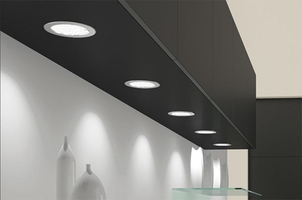 Врезные светильники: Светильник LED Metris V12, 1,6W/12V, 3050-3250K, отделка бронза в МебельСтрой